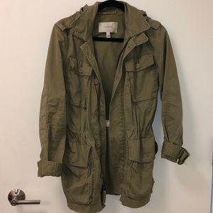 Jcrew Hooded Army Jacket